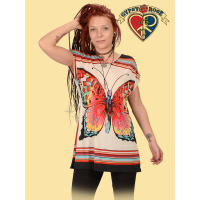 How Sweet It Is Polyester Print Elastic Waist Blouse