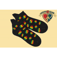 RASTA SMILEY FACES ANKLE SOCKS