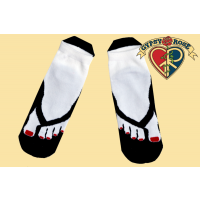 FAUX FLIP FLOP TOES ANKLE SOCKS