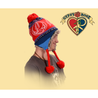 GRATEFUL DEAD STEAL YOUR FACE KNIT FLAP HAT
