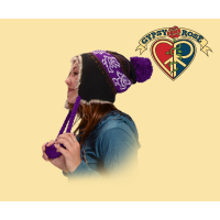 GRATEFUL DEAD DANCING BEAR KNIT FLAP HAT