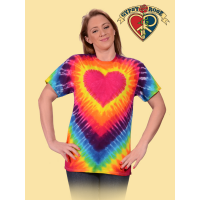 Rainbow Tye Dye Heart T-Shirt
