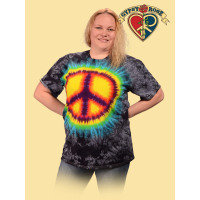 Tye Dye Peace Sign T-Shirt