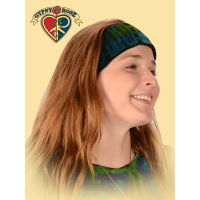 TYE DYE STRETCHY VELVET HEADBAND