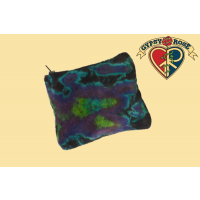 TYE DYE STRETCHY VELVET COIN PURSE
