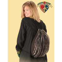 TYE DYE FLEECE DRAWSTRING BACKPACK