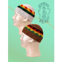 RASTA COLOR SKULL CAP
