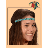 Cherokee People Seed Bead Headband with Elastic