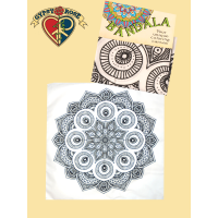 Mandala Coloring Canvas Bandana