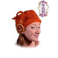 CHILLY WINDS FLEECE-LINED CROCHET NOGGIN CAP