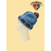 Fleece Lined Wool Mushroom Speckled Roll Hat