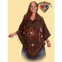 Woolly Boolly Brushed Cape w/ Wool Stitching