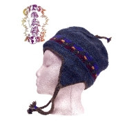 FLEECE LINED WOOL FLAP HAT