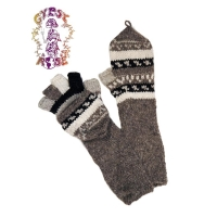 ARM LENGTH WOOL GLITTENS