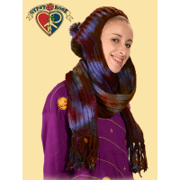 Dream Maker Tye Dye Wool Hat/Scarf Combo