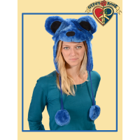 GRATEFUL DEAD DANCING BEAR FURRY FLAP HAT