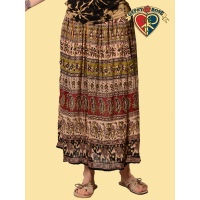 S/M Petite Ramblin' Rose Indian Print Harem Skirt
