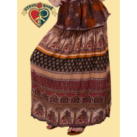 Ramblin' Rose Indian Print Harem Skirt