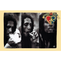 BOB MARLEY TRIPLE SMOKE FABRIC POSTER