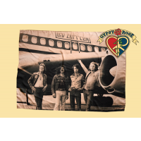LED ZEPPELIN TOUR JET AIRPLANE FABRIC POSTER