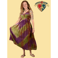 Free Lovin' Tye Dye Crinkle Cotton Maxi Dress