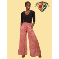 Happy Together Cotton Artisan Pants w/ Lace Trims & Super Comfy Waistband