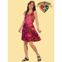 Gimme Some Loving Tye Dye Tiered Cotton Short Dress
