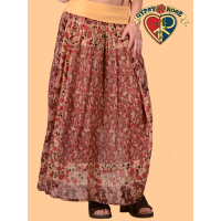 Scarborough Fair Yoga Waistband Printed Cotton Skirt
