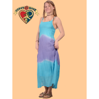 Summertime Blues Tye Dye Cotton Sundress