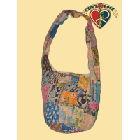 Sitting On The Dock Of The Bay Patchwork Printed Cotton Peddler Bag