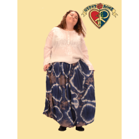 Harvest Moon Crinkle Cotton Tye Dye Burst Long Skirt