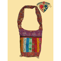 Midnight Special Patchwork Shoulder Bag With Hand Threadwork Detail
