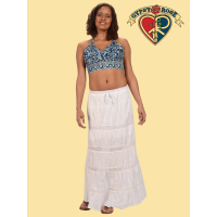 Fantasy Island Batik and Embroidered Halter Top
