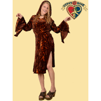 Love Shack Splatter Dye Velvet Hooded Dress