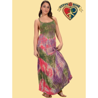 Layla Cotton Crepe Tye Dye Long Dress