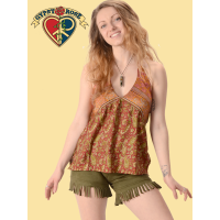 Whispering Wind Recycled Sari Halter Blouse