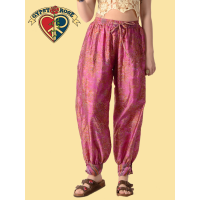Whispering Wind Recycled Sari Harem Pants