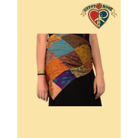 Whispering Wind Recycled Sari Halter Top / Hip Scarf