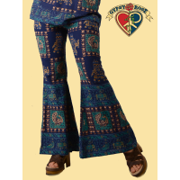 Cotton Napthal Print Funky Flare Bell Bottoms Pants