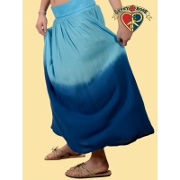 It's Your Thing Ombre Crinkle Skirt With Super-Comfy Waistband S/M Petite Length