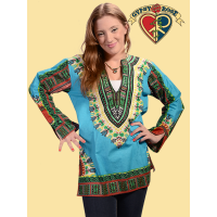 Dashiki Print Cotton Kurta