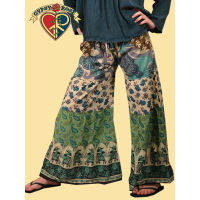 LITTLE WING TIER & PATCHWORK FAR-OUT FLARE PANTS