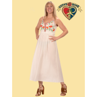 Earth Angel Embroidered Rayon Crepe Dress