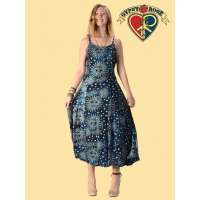 Celestial Print Rayon String Dress