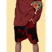 FULL CORDUROY PATCHWORK SHORTS