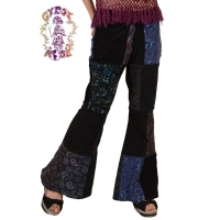 FEEL THA FUNK PATCHWORK CORD FLARE PANTS