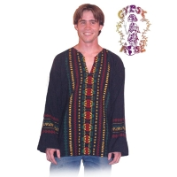 LONG SLEEVE RASTA GUATEMALAN HIPPIE TOP
