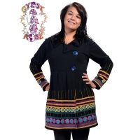 KIND ROOTS SWEATSHIRT COAT WITH APPLIQUE WORK