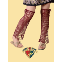 Jubilee Jam Open-Weave Cotton Crochet Leg Warmers
