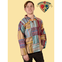 Johnny B Goode Patchwork Cotton Seersucker Shirt